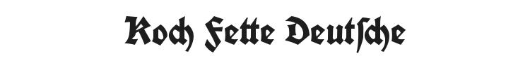 Koch Fette Deutsche Schrift Font Preview