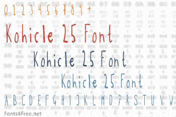 Kohicle 25 Font