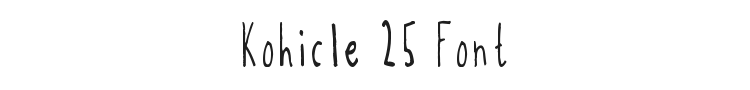 Kohicle 25 Font Preview