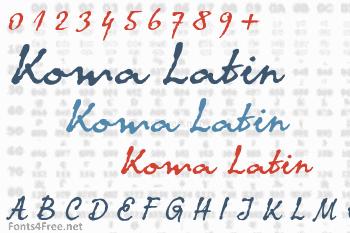 Koma Latin Font