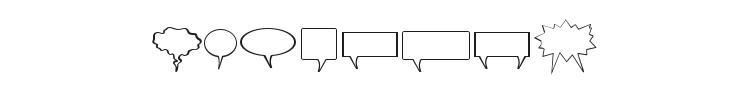 Komika Bubbles Font Preview