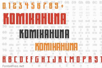 KomikaHuna Font