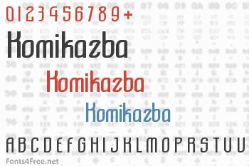 Komikazba Font