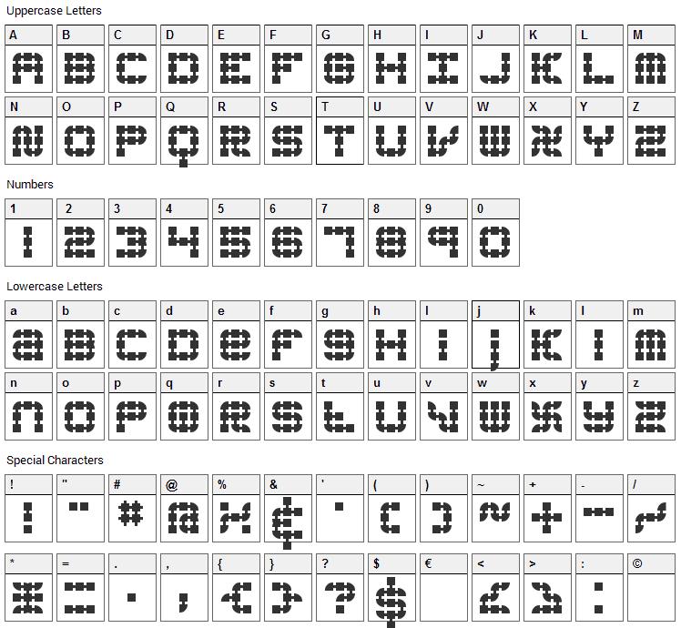 Konector Font Character Map