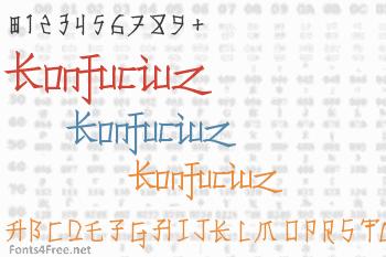 Konfuciuz Font