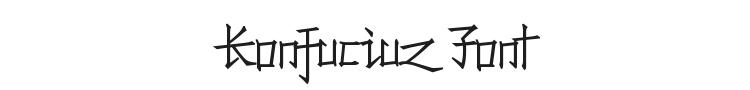 Konfuciuz Font Preview