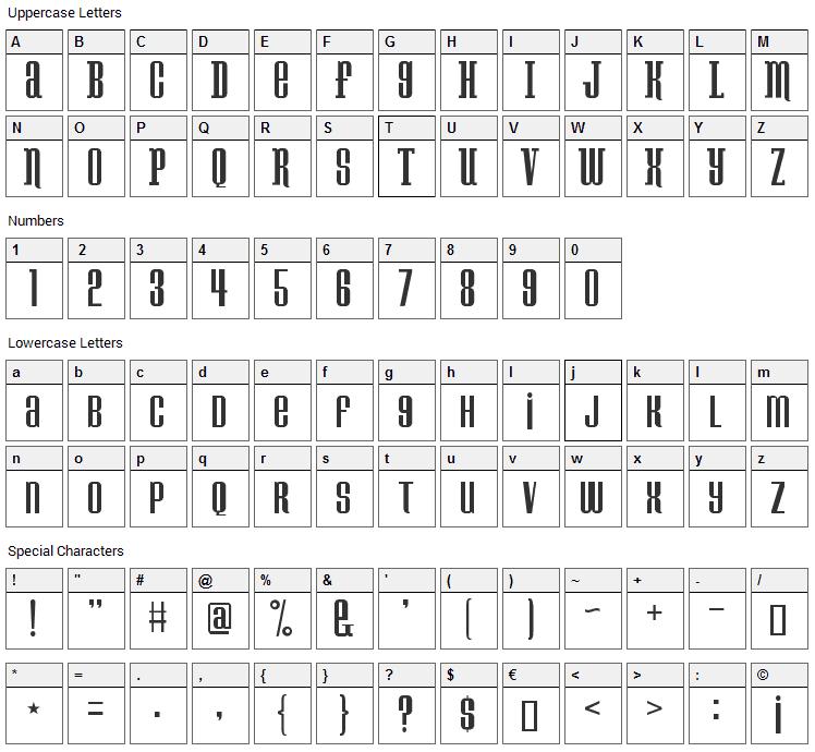 Konspiracy Theory Font Character Map