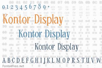 Kontor Display Font