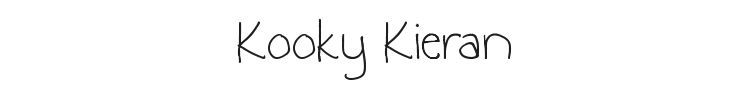 Kooky Kieran Font Preview