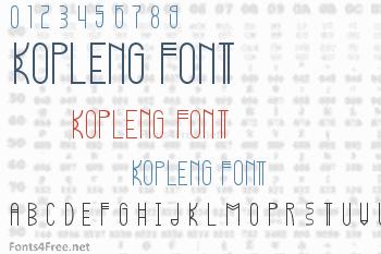 Kopleng Font