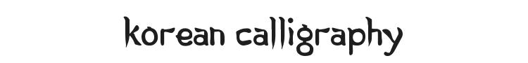 Korean Calligraphy Font Preview