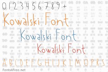Kowalski Font
