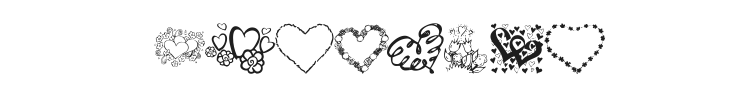 KR All About The Heart Font Preview