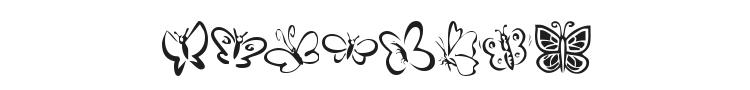 KR Butterflies Font Preview