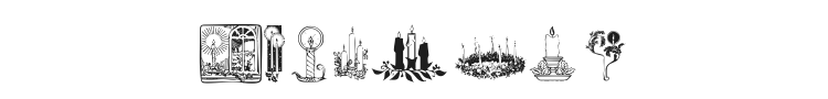 KR Christmas Candles Font Preview