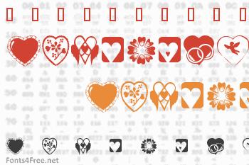 KR Heartiness Font