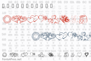 KR Kats Got A New Valentine Font