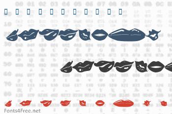 KR Lippy Font