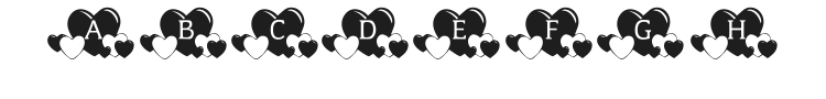 KR Lots of Hearts Font Preview