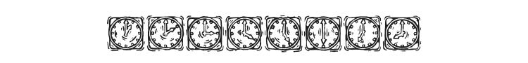 KR Lotsa Time Dings Font Preview