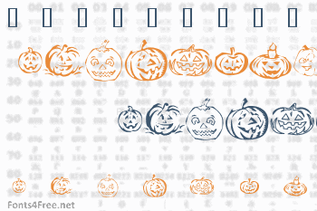 KR Pick A Pumpkin Font