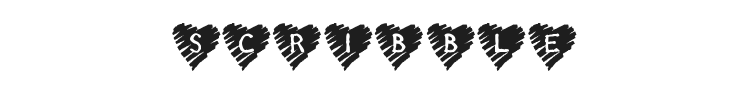 KR Scribble Heart Font Preview