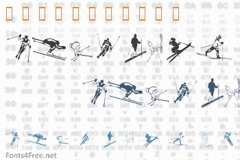 KR Ski Font
