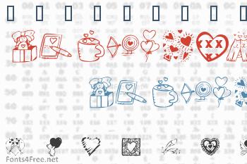 KR Valentine Dings 2002 Font