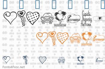 KR Valentine Dings Font