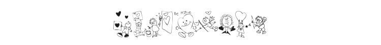 KR Valentine Kids 2006 Font