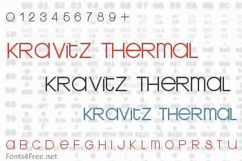 Kravitz Thermal Font