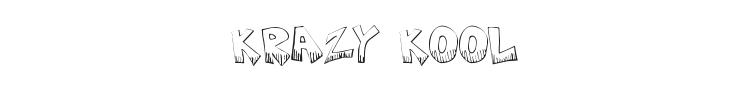 Krazy Kool Font Preview