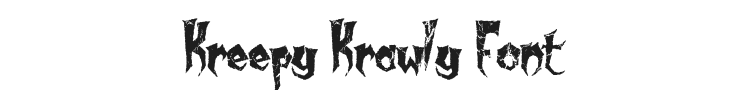 Kreepy Krawly Font Preview