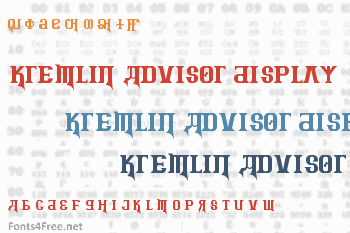 Kremlin Advisor Display Kaps Font