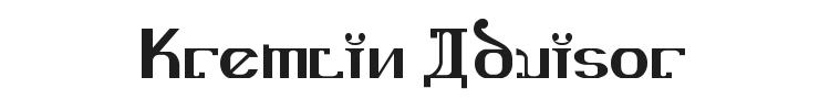 Kremlin Advisor Font Preview