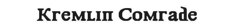 Kremlin Comrade Font