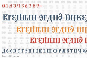 Kremlin Grand Duke Font