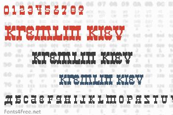 Kremlin Kiev Font