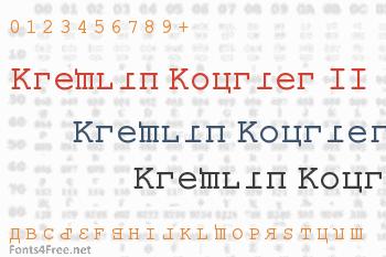 Kremlin Kourier II Font