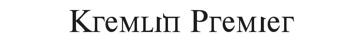 Kremlin Premier Font Preview