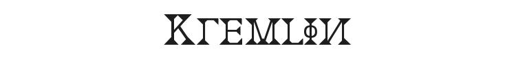 Kremlin Font Preview