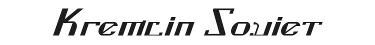 Kremlin Soviet Font