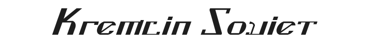 Kremlin Soviet Font Preview