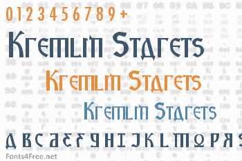 Kremlin Starets Font