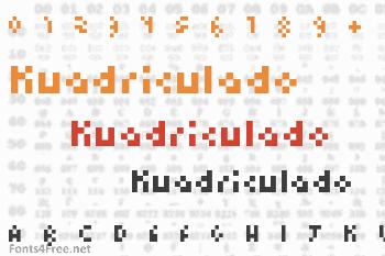 Kuadriculado Font