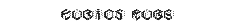 Kubics Rube Font Preview