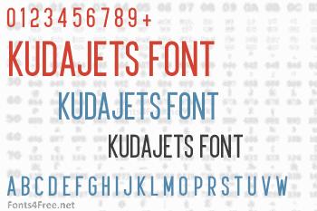 Kudajets Font