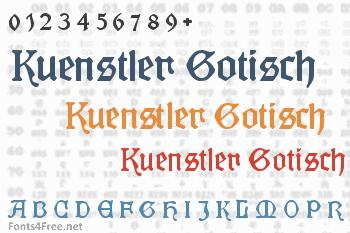 Kuenstler Gotisch Font