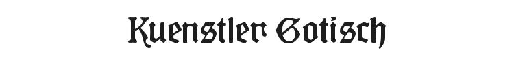 Kuenstler Gotisch Font Preview