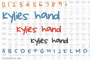 Kylies hand Font
